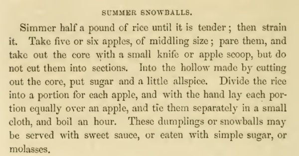 americancookery summer snowballs recipe hall1856