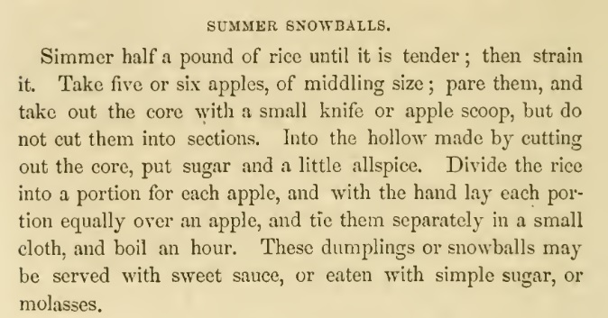 americancookery summer snowballs recipe hall1856