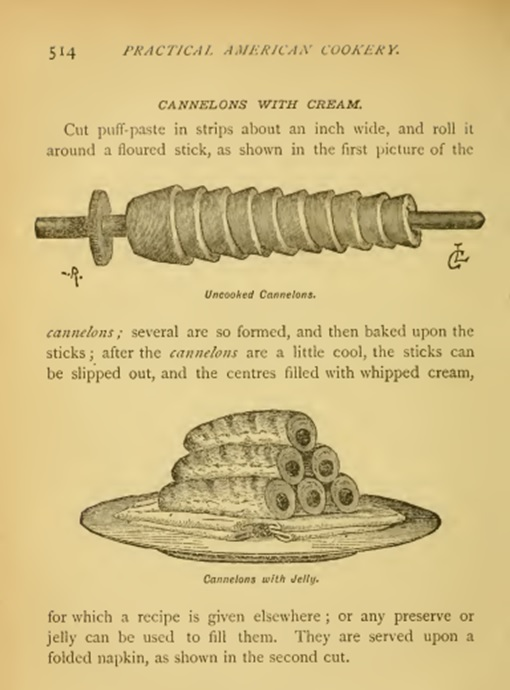 Recipe cannelons-corson 1886