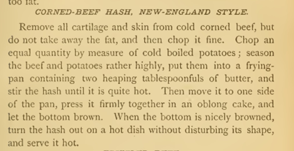 recipe corned beef hash_miss corson1886
