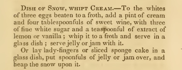 recipe dish of snow_mrs_crowen1866