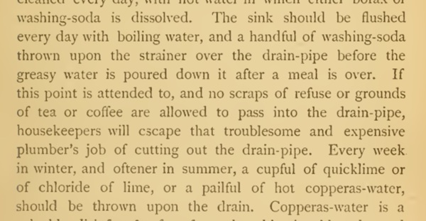 Cleaning Drains 1880s