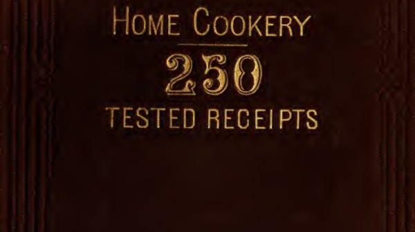 Cover - home cookery 1881_250recipes