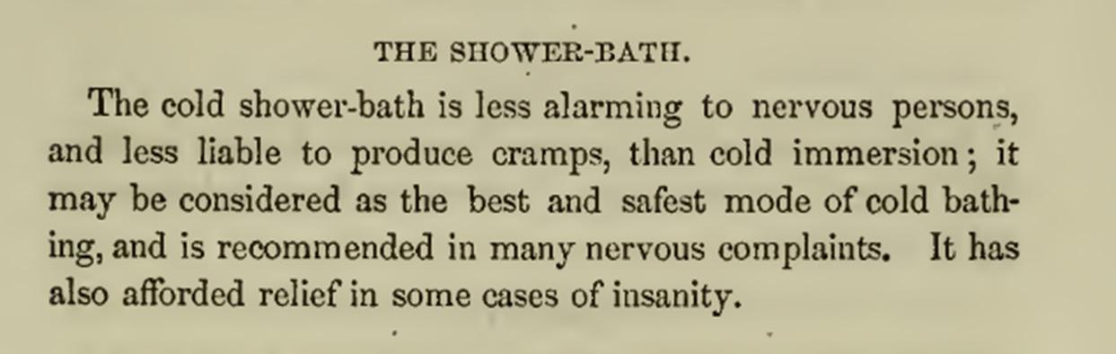 Shower description 1850s