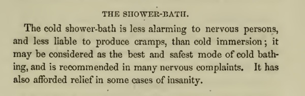 Shower description 1850s