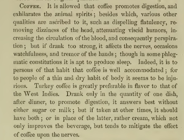 Coffee Description 1850s