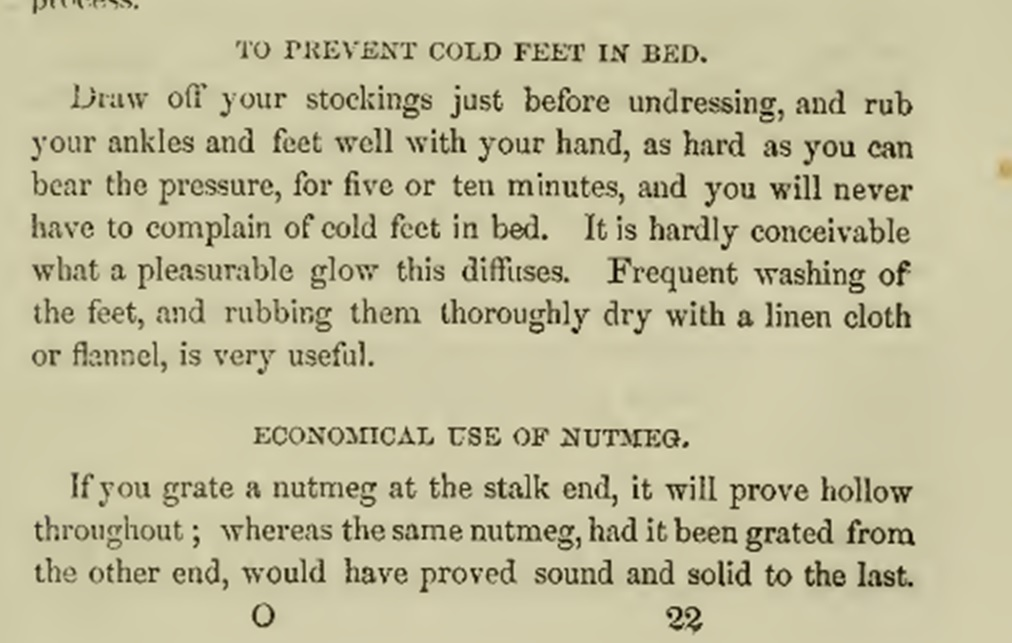 To prevent cold feet in bed Victorian