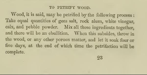 To petrify wood