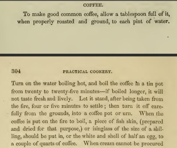 coffee 1850s