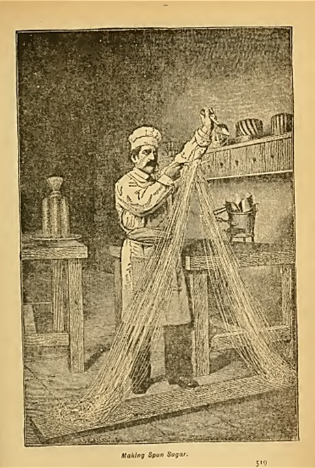 Man spinning sugar sketch Victorian