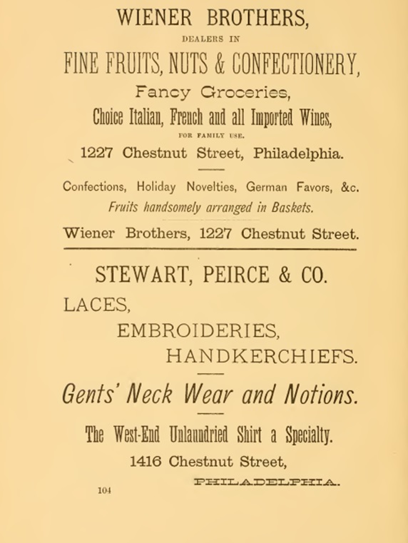 Advertisment_weiner_bros_1881