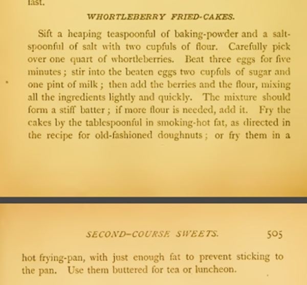 whortleberry-Fried Cakes Recipe-corson-1886