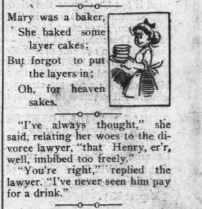 Cake Poem 1911