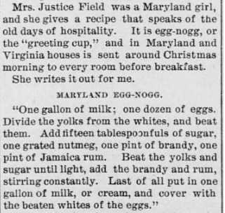 Eggnog recipe 1880s