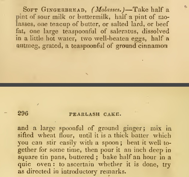 recipe gingerbread 1860s