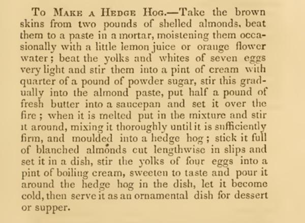 recipe hedgehog_1860s