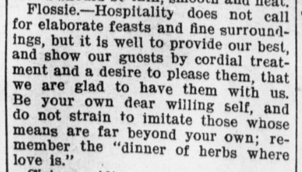 hospitality 1900s