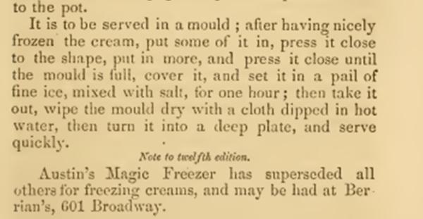 freezing ice cream 1860s