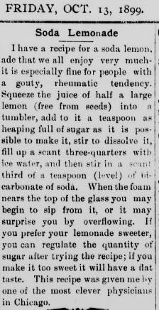 lemonade recipe 1899