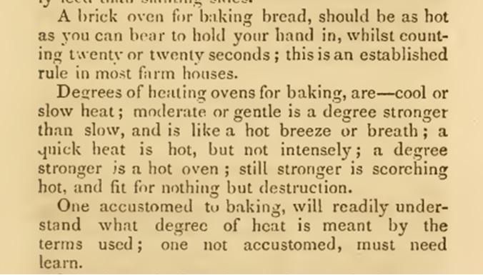 Victorian oven temperatures