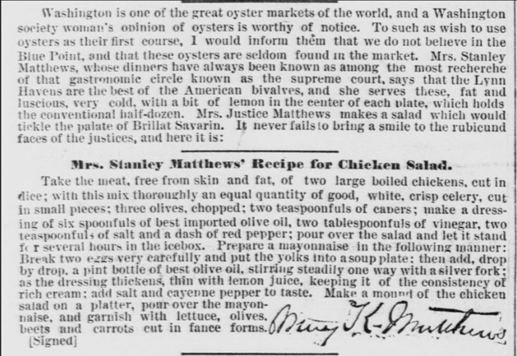 oysters_chicken_salad Recipe 1880s