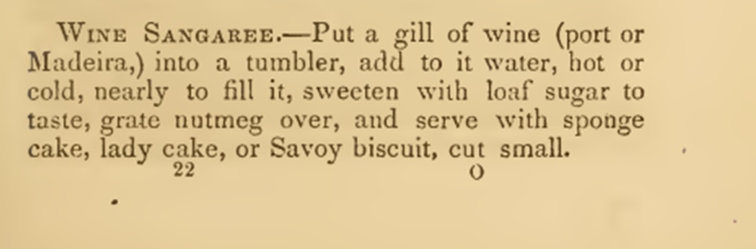 Recipe for sangria wine 1860s