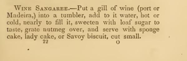 Recipe for sangria wine 1860s