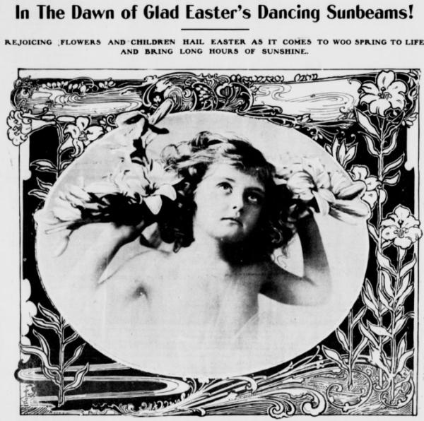 Easter Cherub 1901