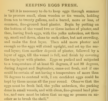 Keeping eggs fresh plaster instructions