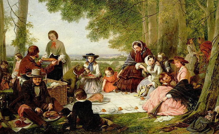 Picnic-Oil painting 1880s