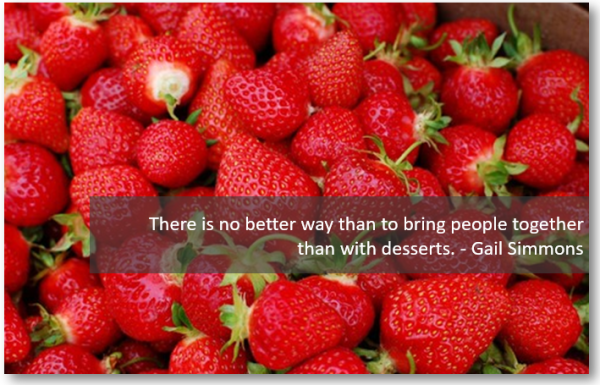 Strawberries Dessert Quote