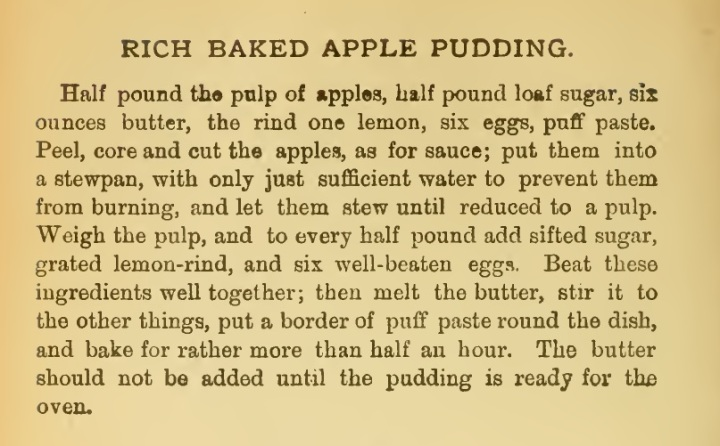 Rich Baked Apple Pudding Recipe