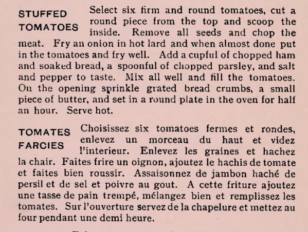 Stuffed Tomatoes Recipe 1900