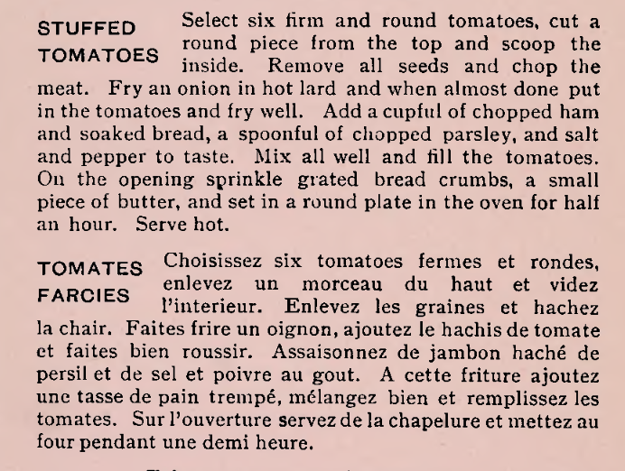 Stuffed Tomatoes Recipe 1900