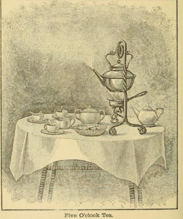 Teapot on table sketch 1890s
