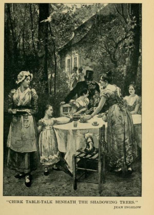 Garden picnic 1890s Montgomery Ward co 's Common sense cookery