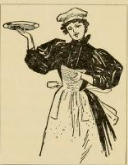 Victorian Woman Carrying plate 1880s