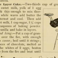 Chocolate Cake ~1897