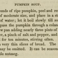 Pumpkin Soup ~1866