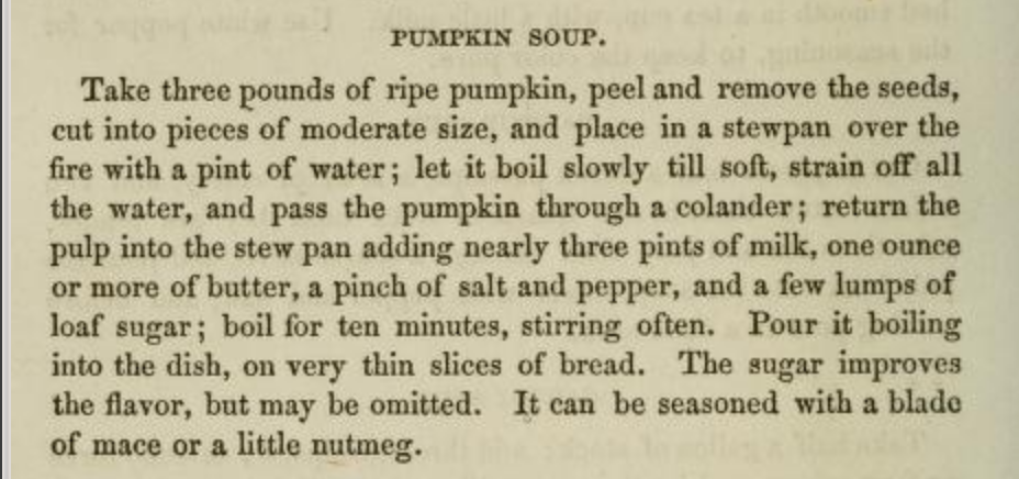 Jennie June Pumpkin Soup Recipe