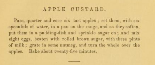 Apple Custard Recipe 1881