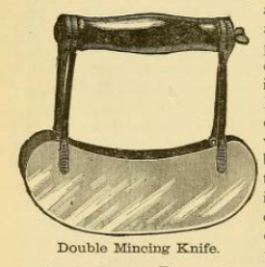 Double Mincing Knife 1890s