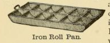 Iron Roll Pan 1890s