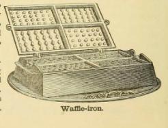 Waffle iron 1890s