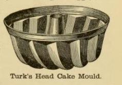 Turk's head cake mould 1890s