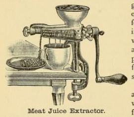 Meat Juice Extractor Sketch 1890s