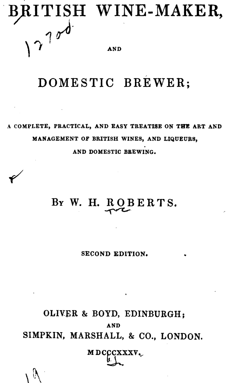British-Wine-Maker-Domestic-Brewer-1835 Title Page