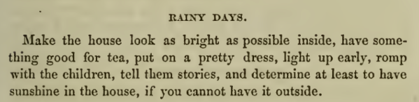 Recipe for Rainy Days 1860s