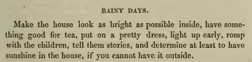Recipe for Rainy Days 1860s