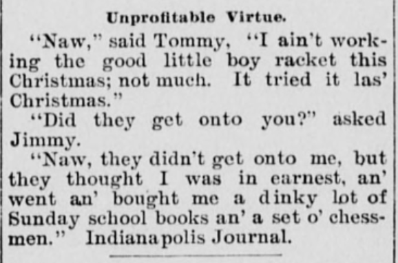 Christmas Joke 1897